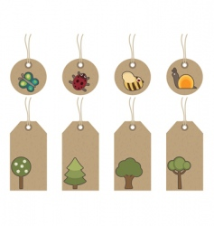 nature tags vector image vector image