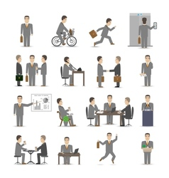 Office people set vector image vector image