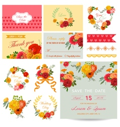 Scrapbook Design Elements - Wedding Invitation vector image vector image