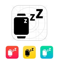 Sleep mode in smart watches icon vector