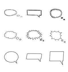 Talking bubble set Comic style speech bubbles vector image