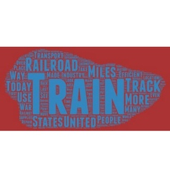 The history of trains text background wordcloud vector