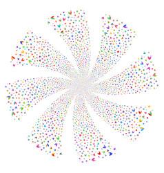 Yacht fireworks swirl rotation vector