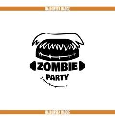 Zombie party badge vector