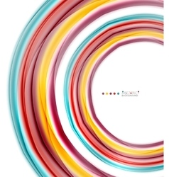 Multicolored lines on white motion concept vector