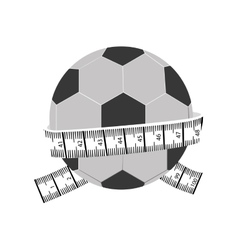 measuring tape and icon image vector image