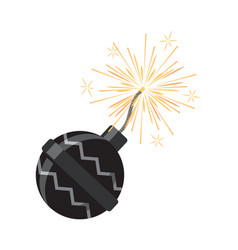 Set of fireworks pyrotechnic devices for festival vector