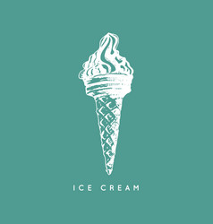 hand sketched of ice cream vector image