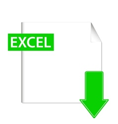 Excel icon vector