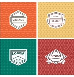 Monogram template vector