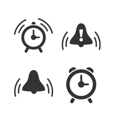 Alarm clock icons wake up bell signs symbols vector
