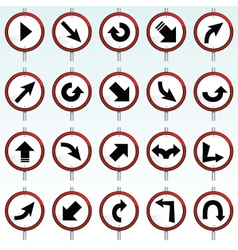 direction signs vector image