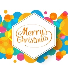 Merry christmas multicolor background for your vector