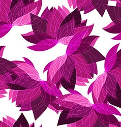 Seamless floral pattern with lotus vector