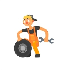 Profession car mechanic vector