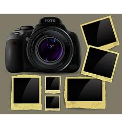photo camera and frames vector image