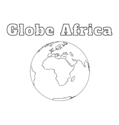 Globe africa view vector