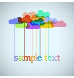Clouds of rainbow vector image
