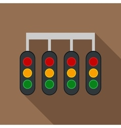 Sport traffic light icon in flat style vector