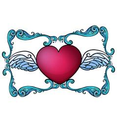 A heart decor vector image vector image