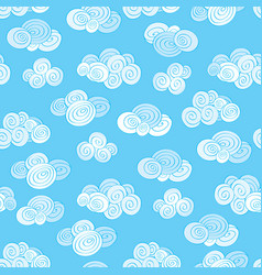 abstract swirl cloud seamless pattern blue sky vector image vector image