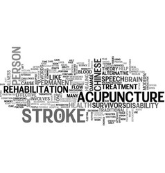Acupuncture text word cloud concept vector