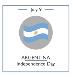 Argentina independence day vector