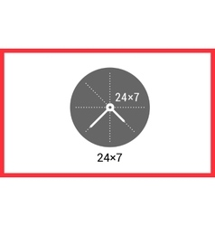 Around clock linear pictogram vector image