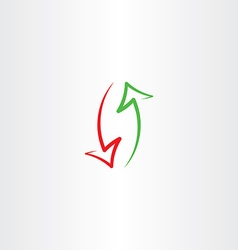 arrows up and down icon symbol vector image