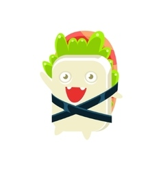 Baby funny maki sushi character vector