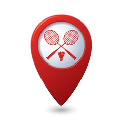 badminton RED pointer vector image vector image