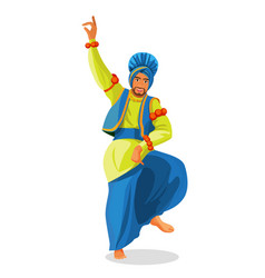 Bhangra dancer in national cloth vector
