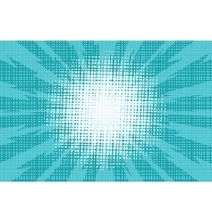 Blue pop art retro background with exploding rays vector