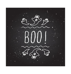 Boo - typographic element vector