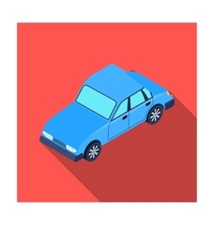 Car icon in flat style isolated on white vector image