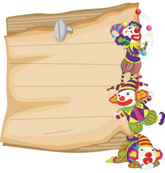 Clown and paper vector