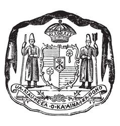 Coat of arms hawaiian islands vintage vector