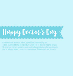 Collection stock card for world doctor day vector