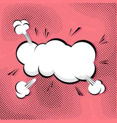 Comic pop-art abstract speech bubble vector image
