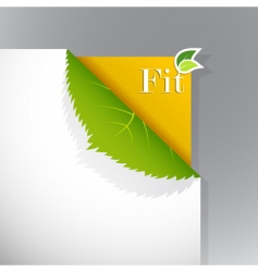 ecology poster vector image vector image
