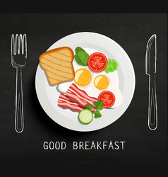 Good breakfast lettering vector