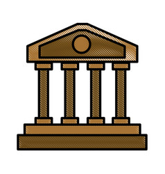 Greek columns building vector