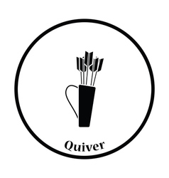 Quiver with arrows icon vector image