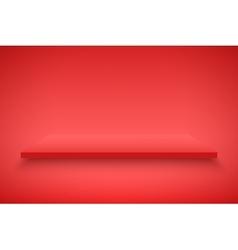 Red Presentation platform vector image
