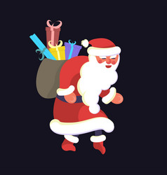 Santa claus sneaks vector