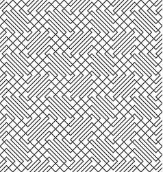 Seamless zig zag line grid pattern background vector