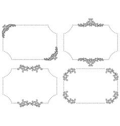 set of black vintage frames vector image