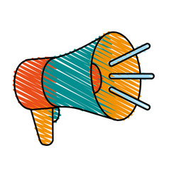 Speaking megaphone icon vector