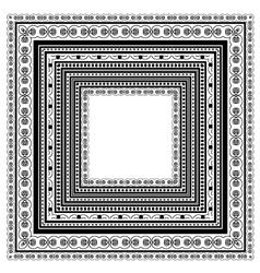 Square Vintage Frame vector image vector image