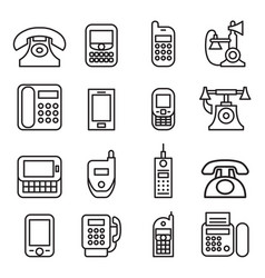 Telephone smart phone fax phone cell phone vector